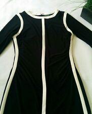 Lauren Ralph Lauren Women's Black White Stretch Casual Career Dress  Size 10 EUC