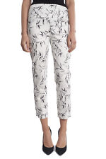 Joseph Ribkoff White/Blk Floral  Cropped Slip On Pants US 10 UK 12 NEW 181839