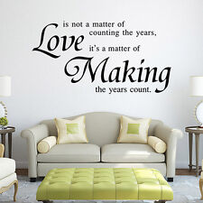 Love Quote Word Phrase Mural Removable Wall Sticker Art Vinyl Decal Home Decor