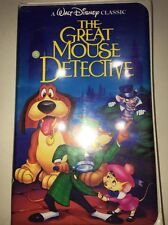 Walt Disney Classic The Great Mouse Detective VHS Tape Classic Rare 1360