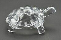 Feng Shui Clear Crystal Turtle Vaastu Gift Career & Luck Tortoise 100 Gms