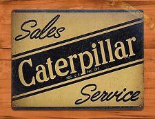 "TIN SIGN ""Caterpillar"" Vintage Farm Rustic Wall Decor"
