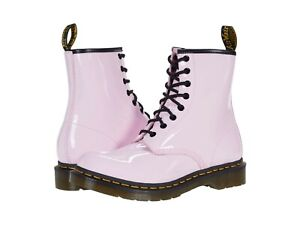 Women's Shoes Dr. Martens 1460 8 Eye Leather Boots 26425322 LIGHT PINK PATENT