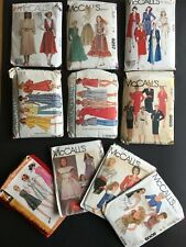 McCall's Vintage Clothing Sewing Patterns x 10
