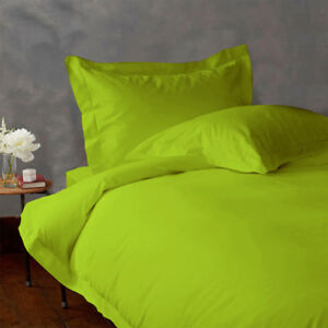 Queen Size Parrot Green Solid Sheet Set 1000 Thread Count 100% Egyptian Cotton