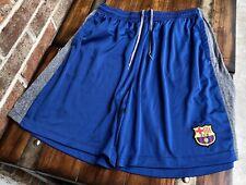 FCB BARCELONA ATHLETIC SHORT BLUE GRAY ACCENT MEN'S XL W15.5/L9/R14 SOCCER NICE