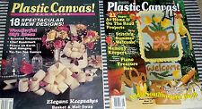 Lot of 2 Plastic Canvas Magazines, Summer & Winter and other Patterns