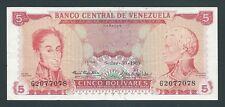 F.C. VENEZUELA , 5 BOLIVARES 1969 , MBC- ( VF ) , P.50c .