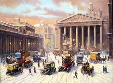 Bank of England London Bus Peugeot Cab Traditional Nostalgic Christmas Xmas Card