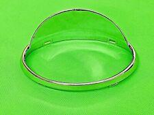 VESPA ET2 / ET4  50 - 125 PLASTI CHROME HEADLAMP RIM WITH BUILT IN PEAK