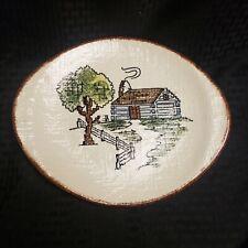 Rare Blue Ridge Pottery Eventide Even Tide Plate Platter Vintage