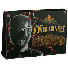 MIGHT MORPHIN POWER RANGERS MMPR LEGACY DIE CAST POWER COIN SET NEW !
