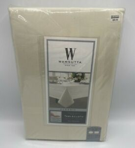 "Wamsutta Classic Tablecloth 70"" X 120"" Oval/Oblong Beige Vanilla 100% Cotton New"