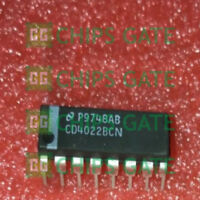 9PCS CD4022BCN Encapsulation:DIP-16,Decade Counter/Divider with 10 Decoded