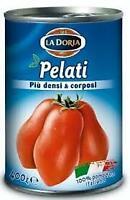 DORIA POMODORI PELATI  PIU' DENSI  &.GR 400 X 24 BARATTOLO LATTINA 100% ITALIANI