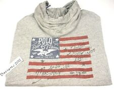 "New listing Polo Ralph Lauren Big&Tall Usa Flag ""Land Of Free "" Grey Hoodie Size 2Xb"