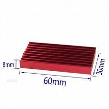 2pcs 60x30x8mm 60mm Red Aluminum Radiator Heatsink For Memory Chipset Cooler