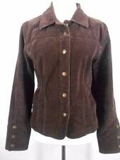 Beautiful Women's Large A.M.I. Brown Corduroy Long Sleeve Button Jacket GUC