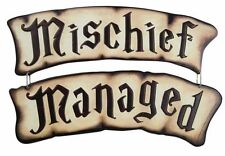 "Harry Potter Marauders Map ""MISCHIEF MANAGED"" Tin Sign Set- Rare New"