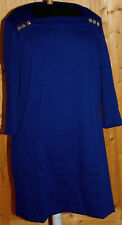 Robe droite jersey lourd  bleu 3 SUISSES VENCA t 2XL 52-54  neuve