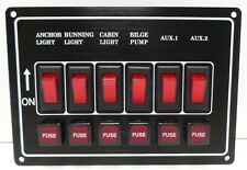 6 Gang Horizontal Switch Panel 12 V  12 VOLT - Boat - Marine - New - CS48
