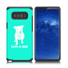 For Samsung Galaxy Note 8 Shockproof Hard Case Cover Love-A-bull Pitbull Love
