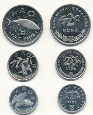 Croatia / Kroatien - 1 + 20 Lipa + 2 Kune 1995 UNC Satz - FAO