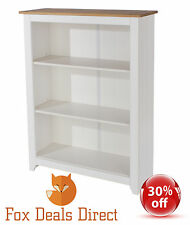 Core Products Capri Waxed Pine White Low Bookcase CP712