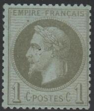 "FRANCE  STAMP TIMBRE N° 25 "" NAPOLEON  III 1c BRONZE 1870 "" NEUF xx TB SIGNE"