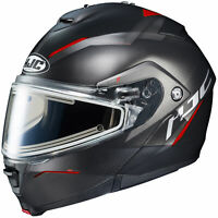 HJC Adult Red/Black IS-Max 2 Dova Modular Electric Snowmobile Helmet Snow 2020