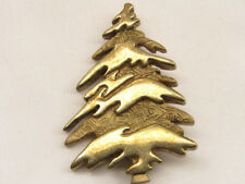 Vintage Sterling Silver Christmas Tree Brooch