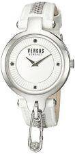 Versus by Versace Women's SOB070015 Key Biscayne White Leather ZIPPER Pin Watch