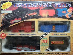 Vintage Continental Train Super Express  battery powered lights and smoke