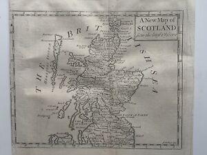 1737 Scotland Original Antique Map By John Senex 284 Years Old