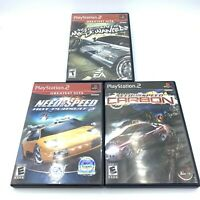 Need for Speed PS2 Lot: Most Wanted, Hot Pursuit 2, Carbon - PlayStation 2