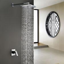 "Luxury Square Rainfall Wall Mount Bath Shower Set Faucets 18"" Shower Head Chrome"