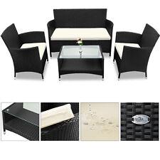 Poly Rattan Sitzgruppe Gartenlounge Lounge Sitzgarnitur Garnitur Gartenmöbel Set