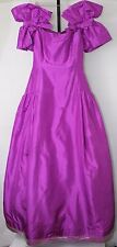 Vintage SCAASI BOUTIQUE Women's Purple Gown Formal Dress Made in USA