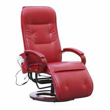 Relaxsessel Terni II mit Massage Leder, rot