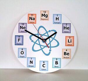 Chemical Symbols Wall Clock, Teacher's Periodic Table Clock, Modern Wall Clock