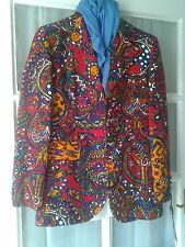 Moschino genuine RARE red patterned blazer jacket size 10/12 made in italy