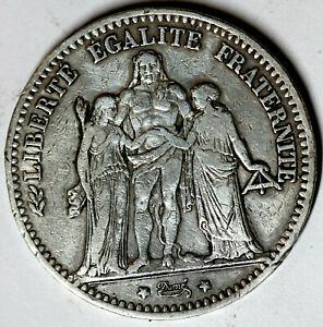 5 Francs - 1875 - Paris  - Argent - Gadoury