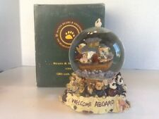 Boyds Bears Bearstone Musical Waterglobe Mr. & Mrs. Noah and Co.-#270505