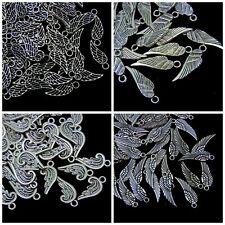 50 Pcs - Tibetan Silver Angel Fairy Wing Charms Craft Beading Jewellery UK ML