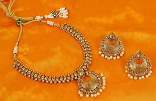 2364 Indian Bollywood Traditional Ethnic Gold Tone Fashion Necklace Jewelry Set