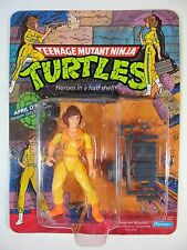 VINTAGE 1988 TEENAGE MUTANT NINJA TURTLES 10 BACK APRIL O'NEIL MOC UNPUNCHED