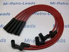 RED 8MM PERFORMANCE IGNITION LEADS FOR VAUXHALL NOVA 1.3 1.4 QUALITY LEADS. HEI