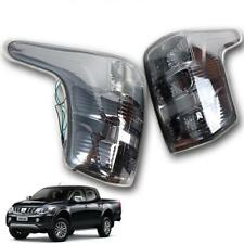 For 2015+ Mitsubishi Triton L200 4WD 2WD Tail Lamp Lights Rear Smoke tint Black