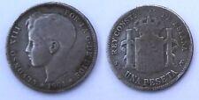 Moneta Spagna  - 1 Peseta - Argento - Anno 1901