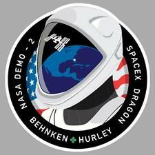 DM-2 NASA SPACE DRAGON Sticker vinyle laminé